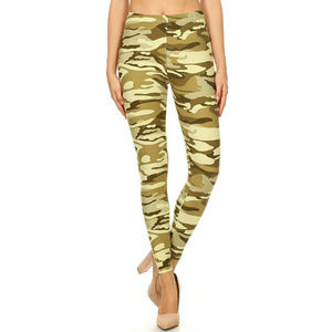 New Mix Womens Soft Camouflage Leggings Size 4X